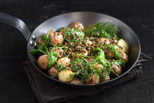 Potato salad with lentils