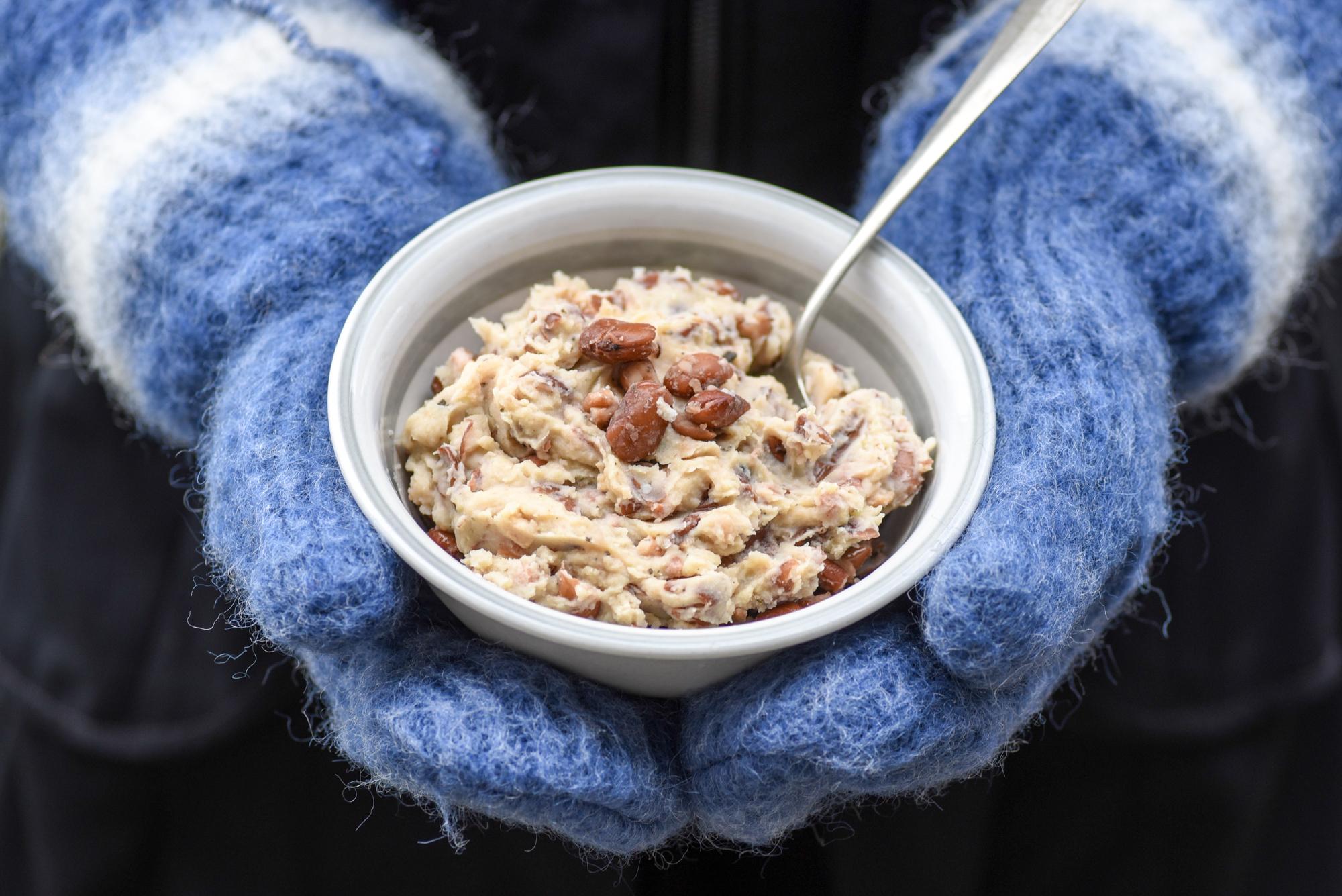 stopverf peulvruchten bruine bonen puree