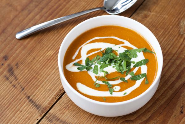 Lentil soup with cooking cream